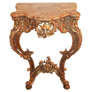 Italian Carved Giltwood Console
