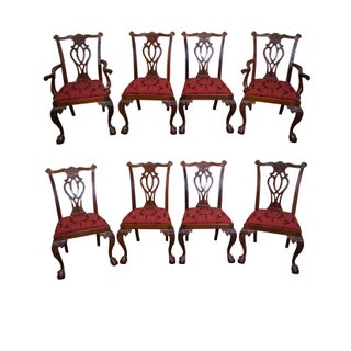 Councill Craftsman Solid Mahogany Ball & Claw Foot Dining Chairs - Set of 8