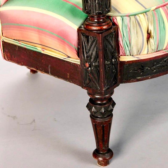 19th Century Spanish Sofa With Turned and Carved Frame - Image 10 of 10