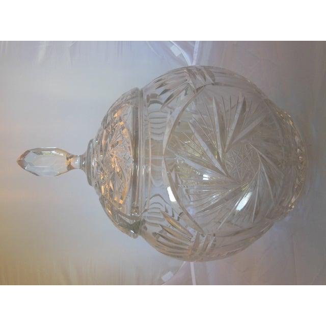 Vintage Crystal Lidded Punch Bowl Set - Set of 7 - Image 4 of 7