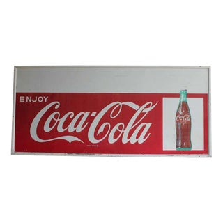 Over Sized 1960's Original Coca Cola Sign With Personality Panel