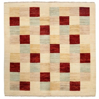 """Gabbeh, Hand Knotted Square Rug - 5' 1"""" X 5' 1"""""""