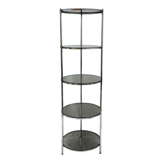 Mid-Century Model Chrome & Glass Etagere