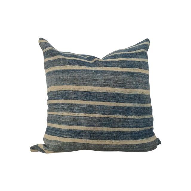 Indigo Cloth Large Pillow - Image 1 of 4