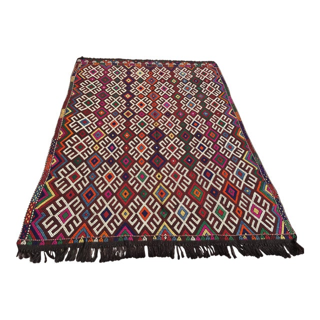 Vintage Turkish Kilim Rug- 7′1″ × 9′10″ - Image 1 of 10