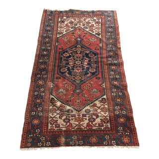"""Antique Hand Knotted Persian Wool Rug - 3'6"""" X 6'"""