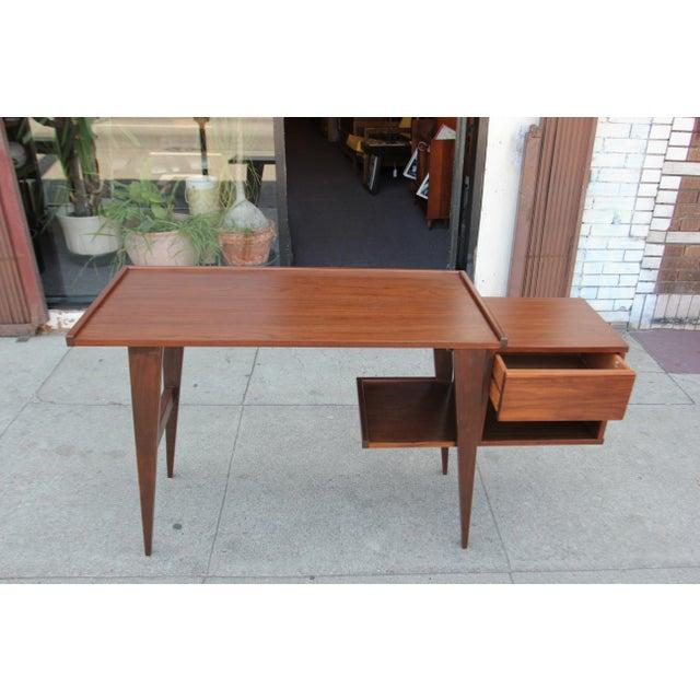 Modern Walnut Writing Desk - Image 8 of 8