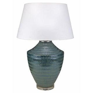 Blue Textured Ceramic Table Lamp