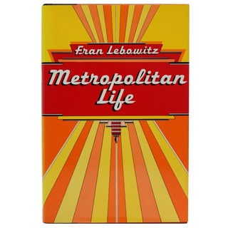 'Fran Lebowitz: Metropolitan Life, First Edition' Book