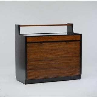 Tambour Front Bar Cabinet by Edward Wormley for Dunbar