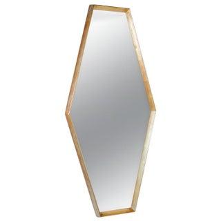 Polyhedral Design Goldleaf Frame Mirror