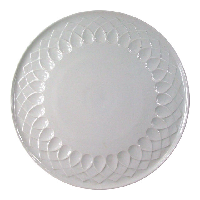 White Porcelain Serving Plate - Image 1 of 4
