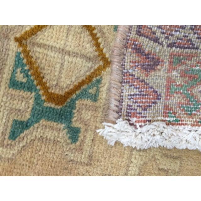 "Turkaman Handmade Persian Rug 1'6"" x 2'8"" - Image 10 of 10"