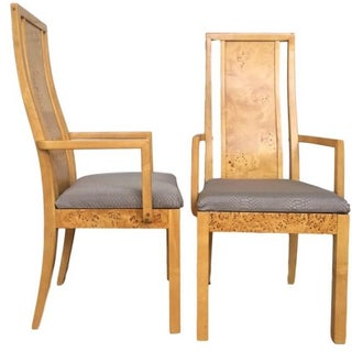 Thomasville Burl Dining Chairs - Set of 8