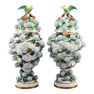 Snowball Porcelain Vases by Meissen