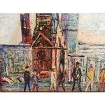 Image of Midcentury Berlin Street Oil Painting