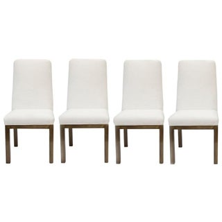 Mastercraft Bronze Base Dining Chairs - Set of 4