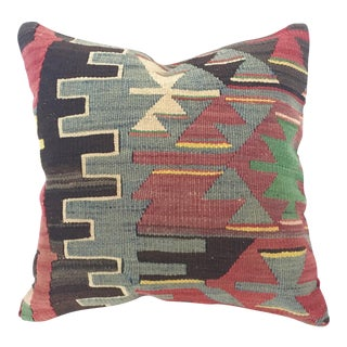 Vintage Turkish Kilim Square Pillow Cover