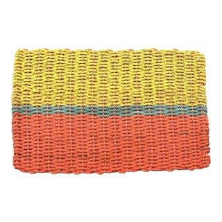 """Recycled Lobster Rope Doormat: """"Peaks"""""""