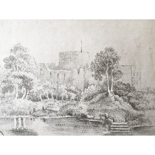 19th C Drawing of Castle Ruins