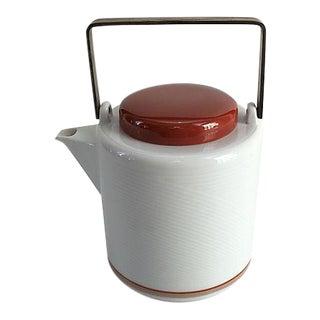 Mid-Century Dansk Jack Lenor Larsen Porcelain Teapot