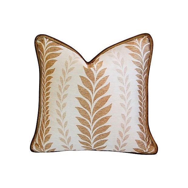Iman Golden Zahra Golden Leaf Pillows - A Pair - Image 2 of 7