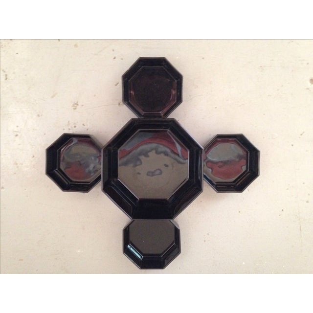 French Deco Geometric Bowls - Set of 5 - Image 4 of 5