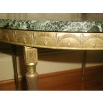 Image of Bronze Neoclassical Marble & Mirror Coffee Table