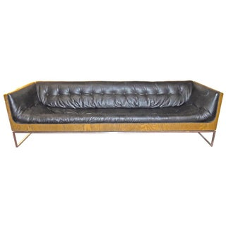 John Stuart Tufted Leather Sofa