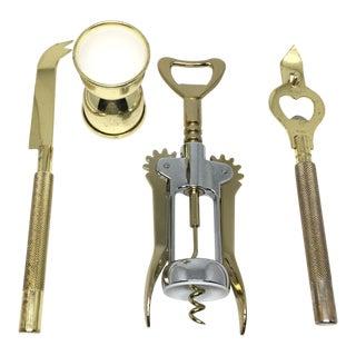 Vintage Gold Bar Tools - Set of 4