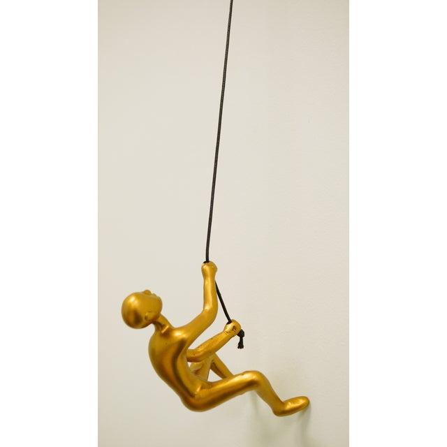 Gold Climbing Man Wall Art - Image 2 of 4