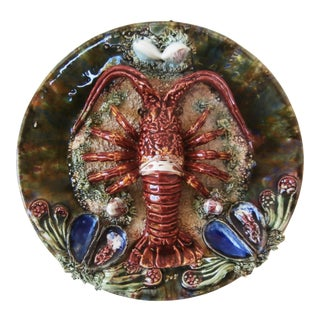 Majolica Palissy Portuguese Lobster Wall Plate