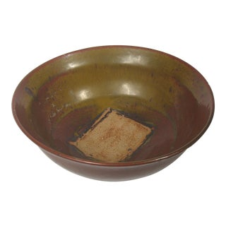 Glazed Stoneware Serving Bowl