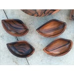 Image of 9-Piece Rosewood Salad Bowl Set