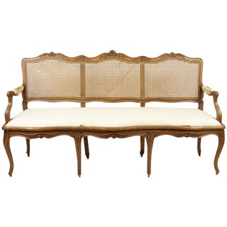 Early 19th C. French Provincial Caned Settee