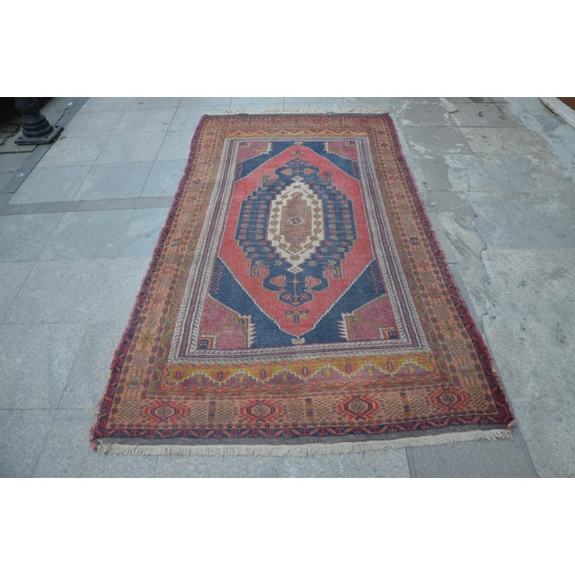 Image of Vintage Turkish Oushak Carpet - 4′5″ × 8′
