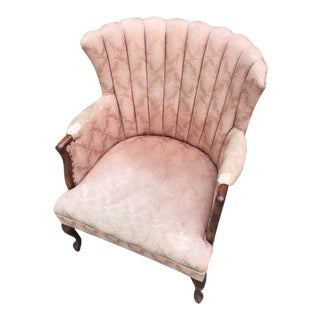 1950s Pink Channel Back Chair