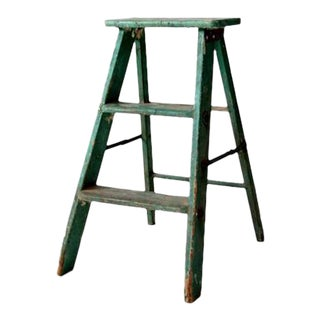 Vintage Wood Step Ladder