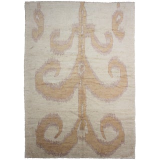 Traditional Floral Ikat Rug - 7'9 x 10'6