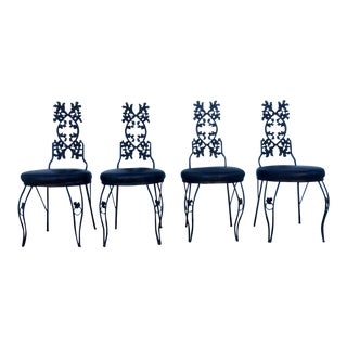 Vintage Metal Leaf Chairs - Set of 4