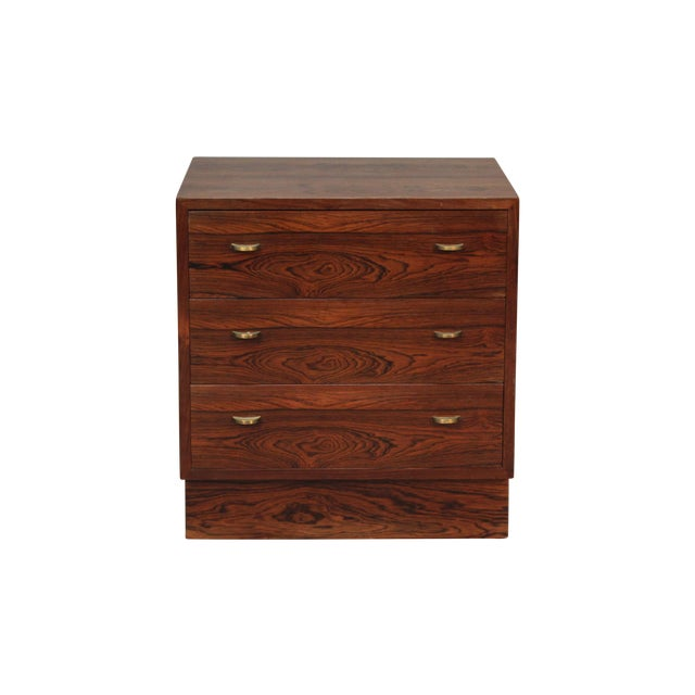 Image of Rosewood & Brass Drawer Pulls Chest