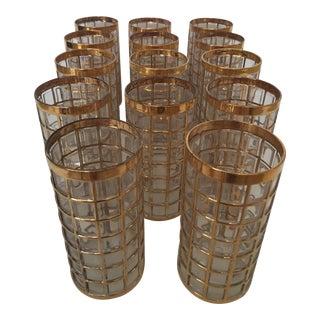 Imperial Glass Toril De Oro Gold 15 Highball Drinks Glasses