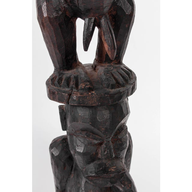 Antique African Male Fertility Wooden Carved Statue Tribal