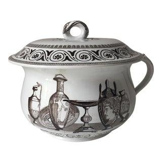 Antique English Neoclassical Lidded Jar-George Jones
