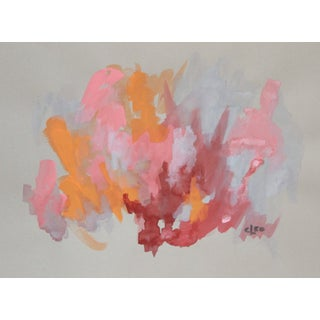 """Peach Frost"" Abstract Painting by Cleo"