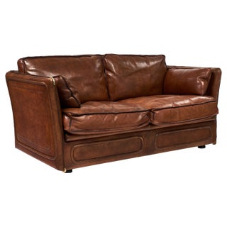 Hermes Style Buffalo Leather French Love Seat