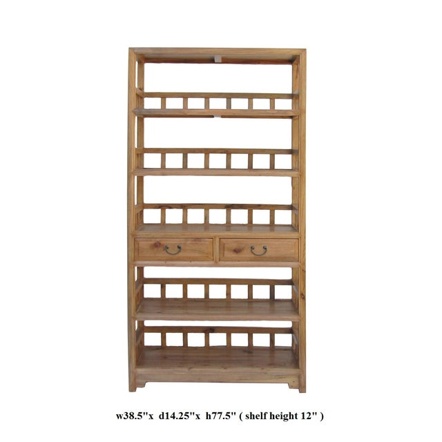 Chinese Camphor Wood Simple Display Curio Bookcase - Image 5 of 5