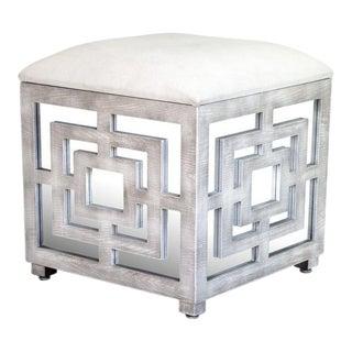 Lyda Mirrored Storage Box Ottoman