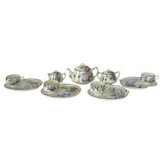 Handpainted Japanese Porcelain Luncheon Tea Set