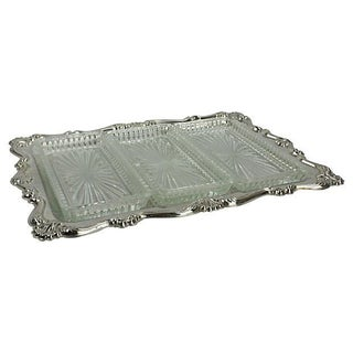 Falstaff Silver-Plate 3-Part Relish Tray